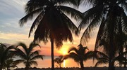 Beautiful sunset in the Cayman Islands