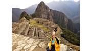 Ont top of the world at Machu Pichu in Peru