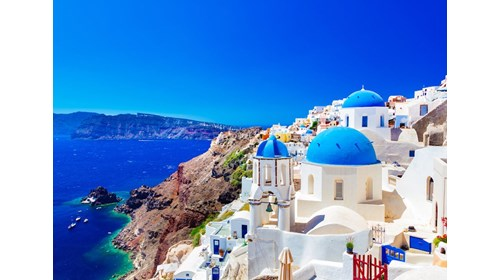 View of the Pitons in St. Lucia